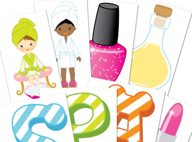 Girls Spa Party Digital Clipart