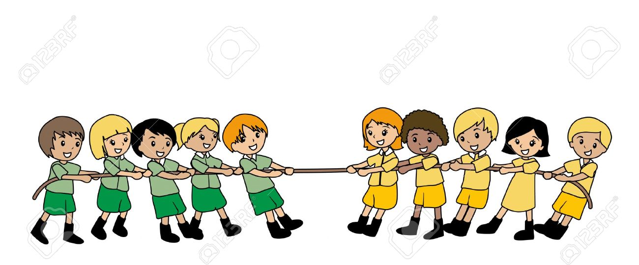 Girls Tug Of War Clipart #1