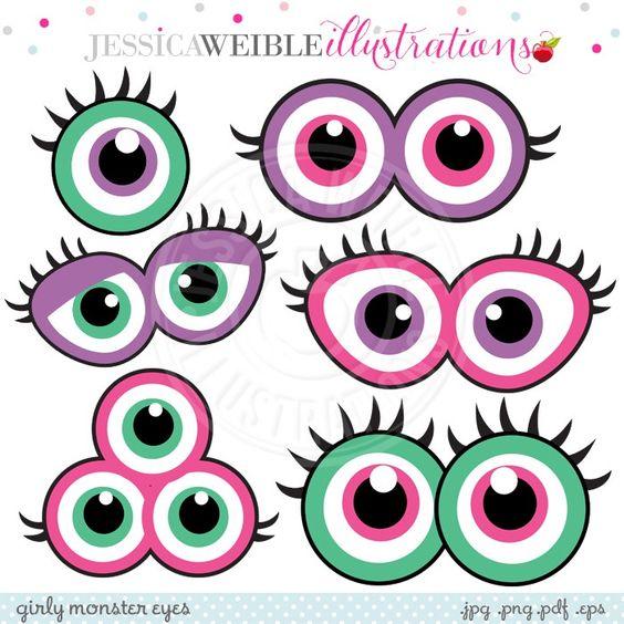 Girly Monster Eyes Digital .