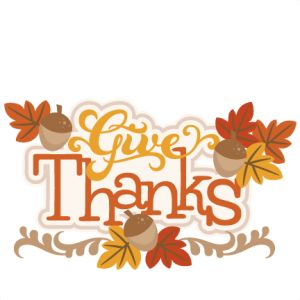 Give Thanks SVG - Clip Art For Thanksgiving
