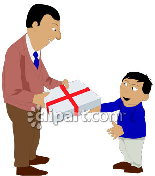 giving gift clipart