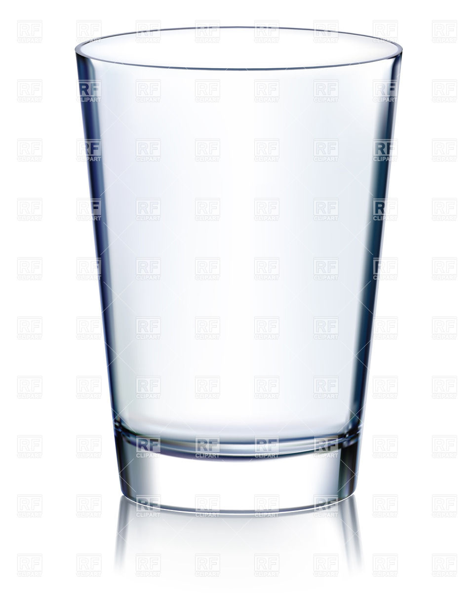 Empty glass non transparent Royalty Free Vector Clip Art