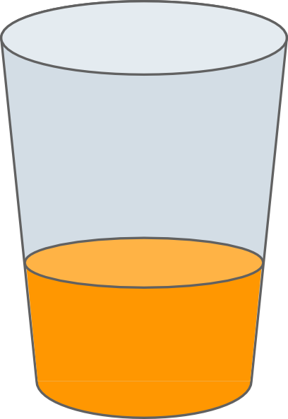 Orange Juice In Glass Clip Art at Clker clipartlook.com - vector clip art online,  royalty free u0026 public domain