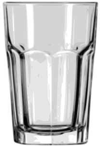 Vector image of tumbler glass