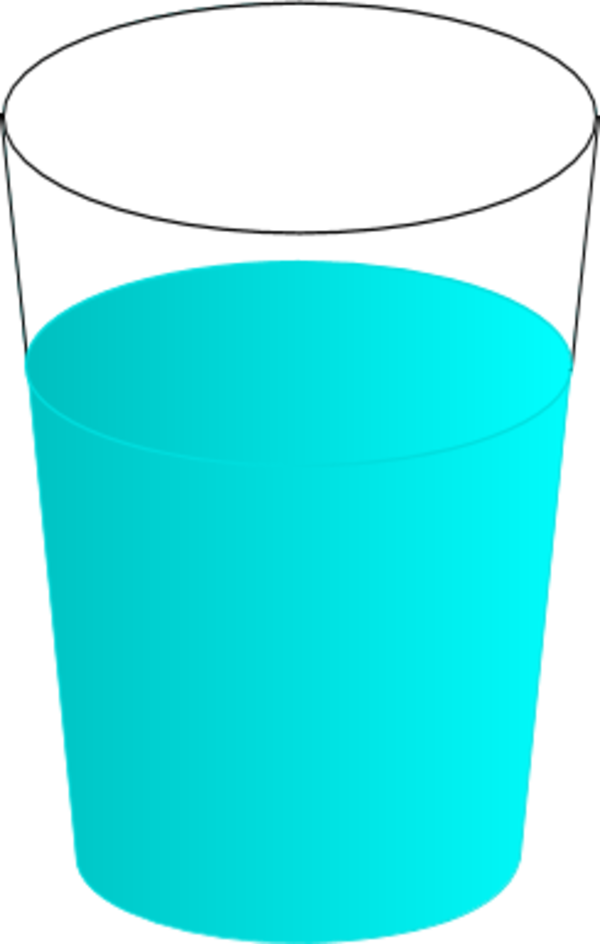 Glass of water tumbler cup clipart