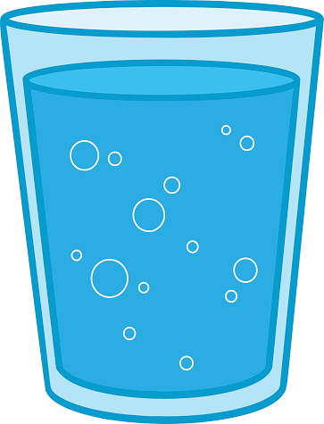 Glass of Water vector art illustration