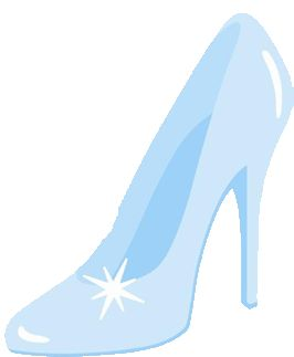 glass slipper clip art .
