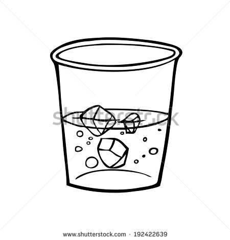 Glass With Water Illustration .