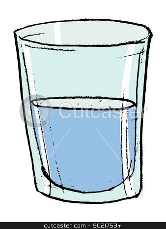 glass with water stock vector .