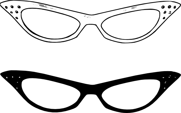 glasses frame clipart