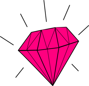 Glitter pink diamonds clipart