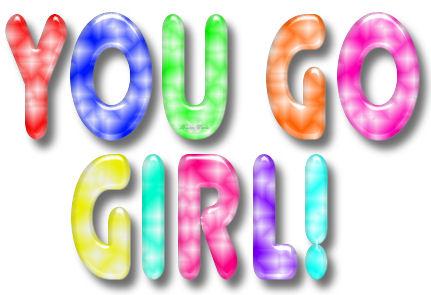 Glitter Text Good Luck You Go Girl