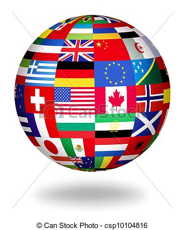 ... Global Flags Of The World - Floating-... global flags of the world - Floating globe covered with... ...-10