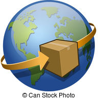 ... Global Shipping - A Package Circling-... Global Shipping - A package circling the globe.-7