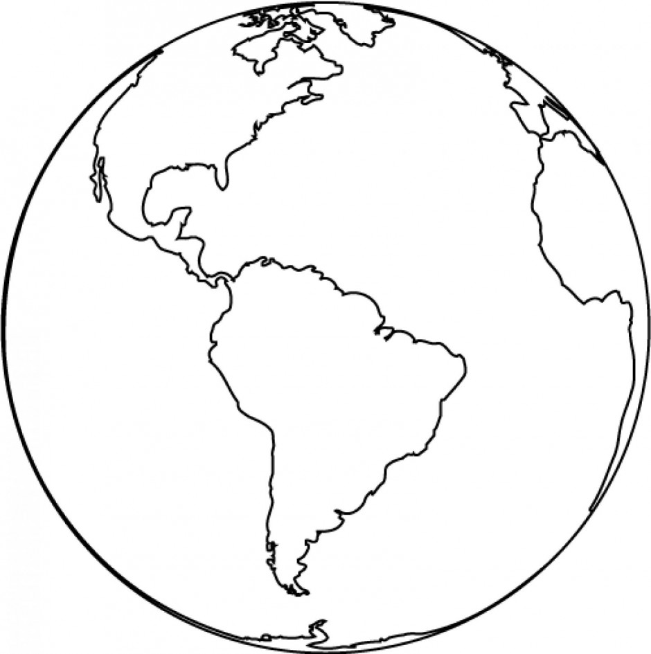 globe clipart black and white
