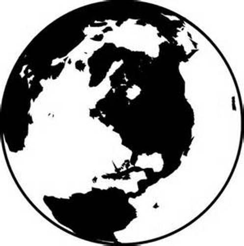 Globe clipart black and white home design gallery clip art