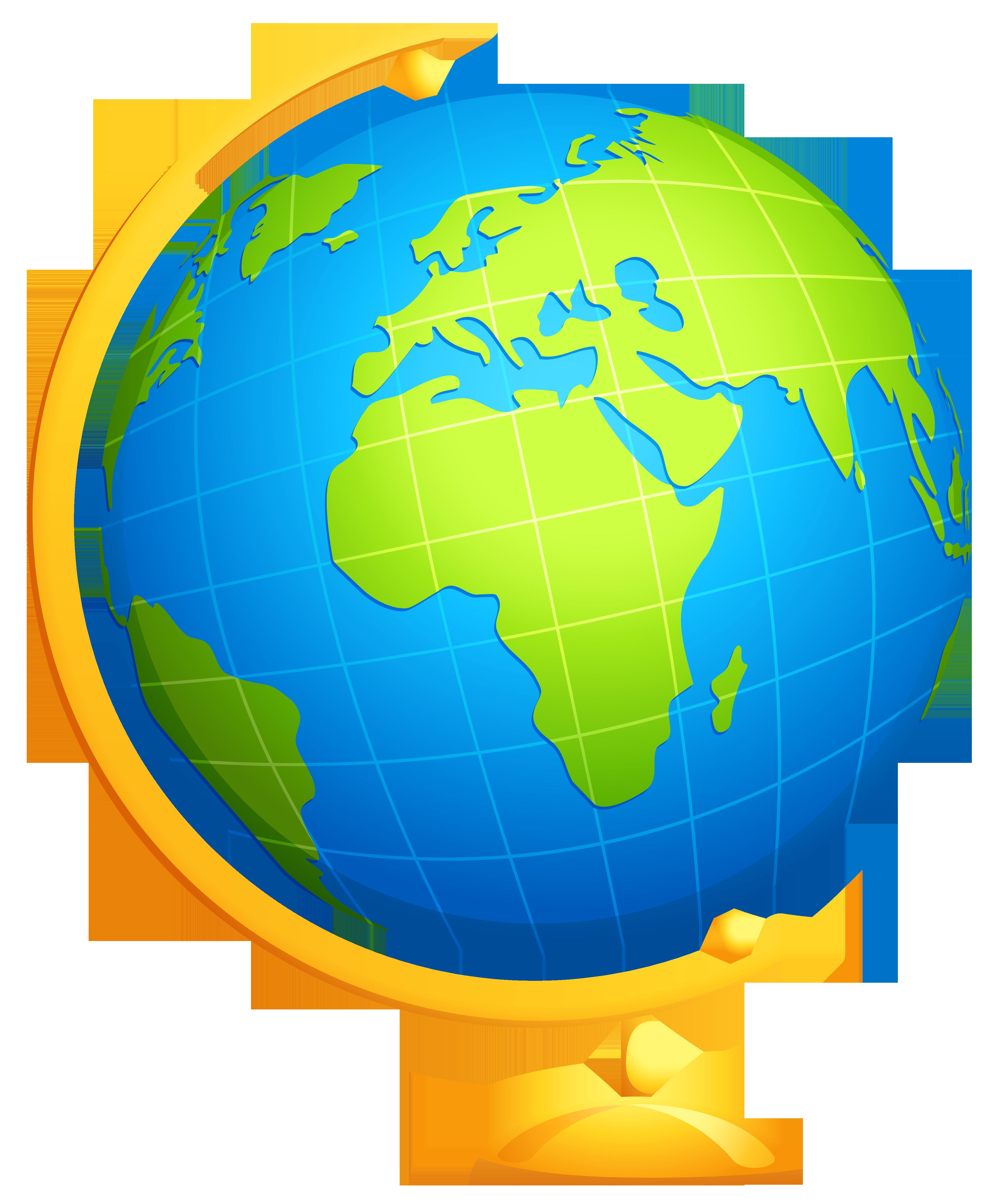 Globe clipart .