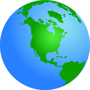 Globe Clipart Image Globe With North America At The Center Of The