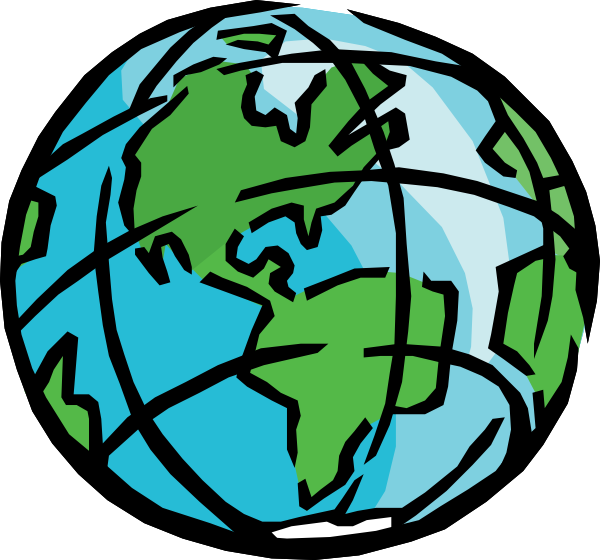 Globe earth clip art 2