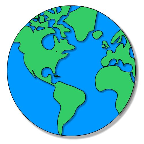 Globe earth on planet earth clip art and earth day clipartwiz