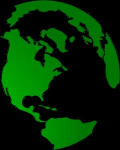 Globe Green Clip Art