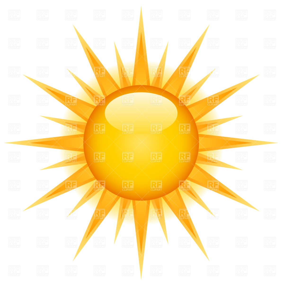 Glossy Sun Icon 1526 Icons And Emblems Download Royalty Free Vector