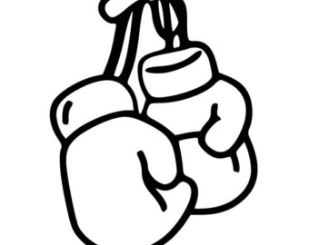 ... Gloves clipart images; boxing glove decal u2013 Etsy ...