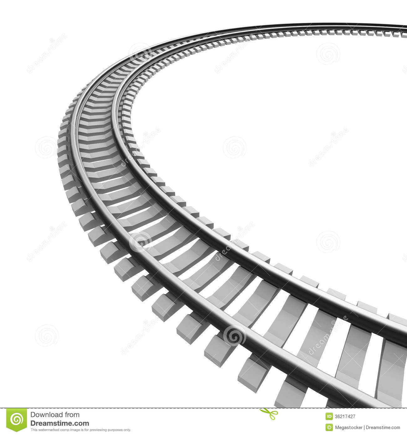 Go Back Images For Curved Train Track Clipart