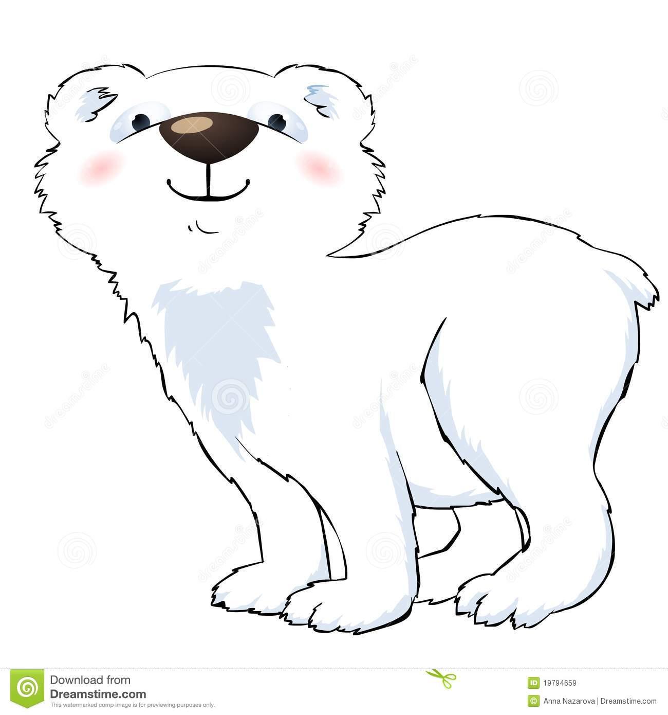 Go Back Images For Cute Polar Bear Clipart