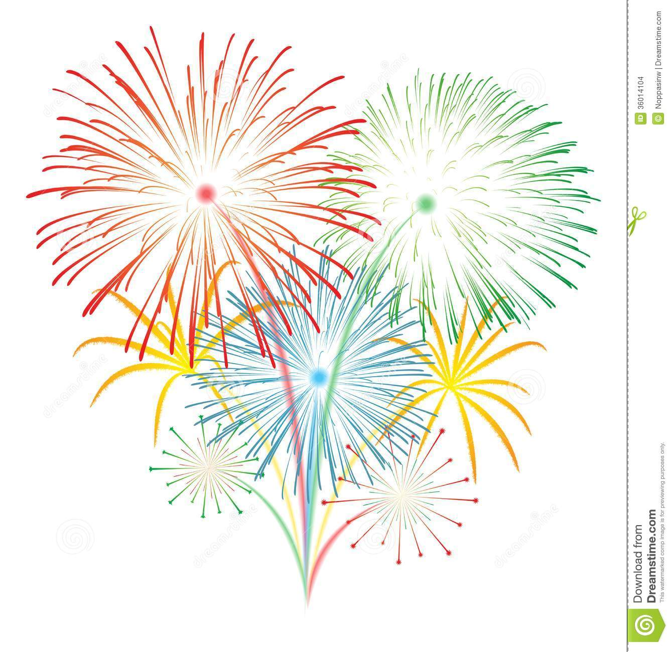 Go Back Images For Fireworks  - Clipart Of Fireworks