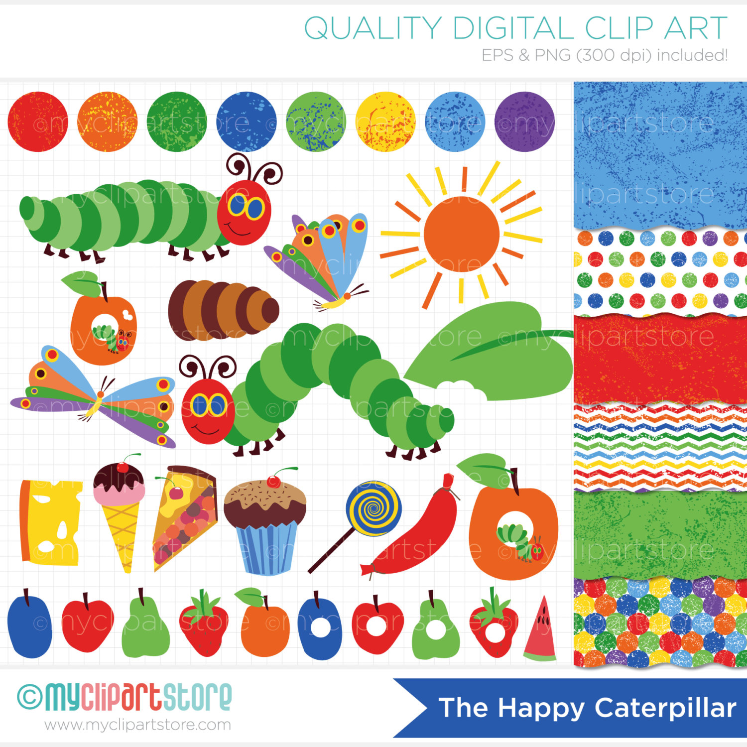 Go Back Images For Very Hungry Caterpill-Go Back Images For Very Hungry Caterpillar Clipart-7