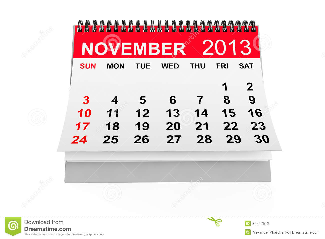 Go Back Pix For November Calendar Clipart