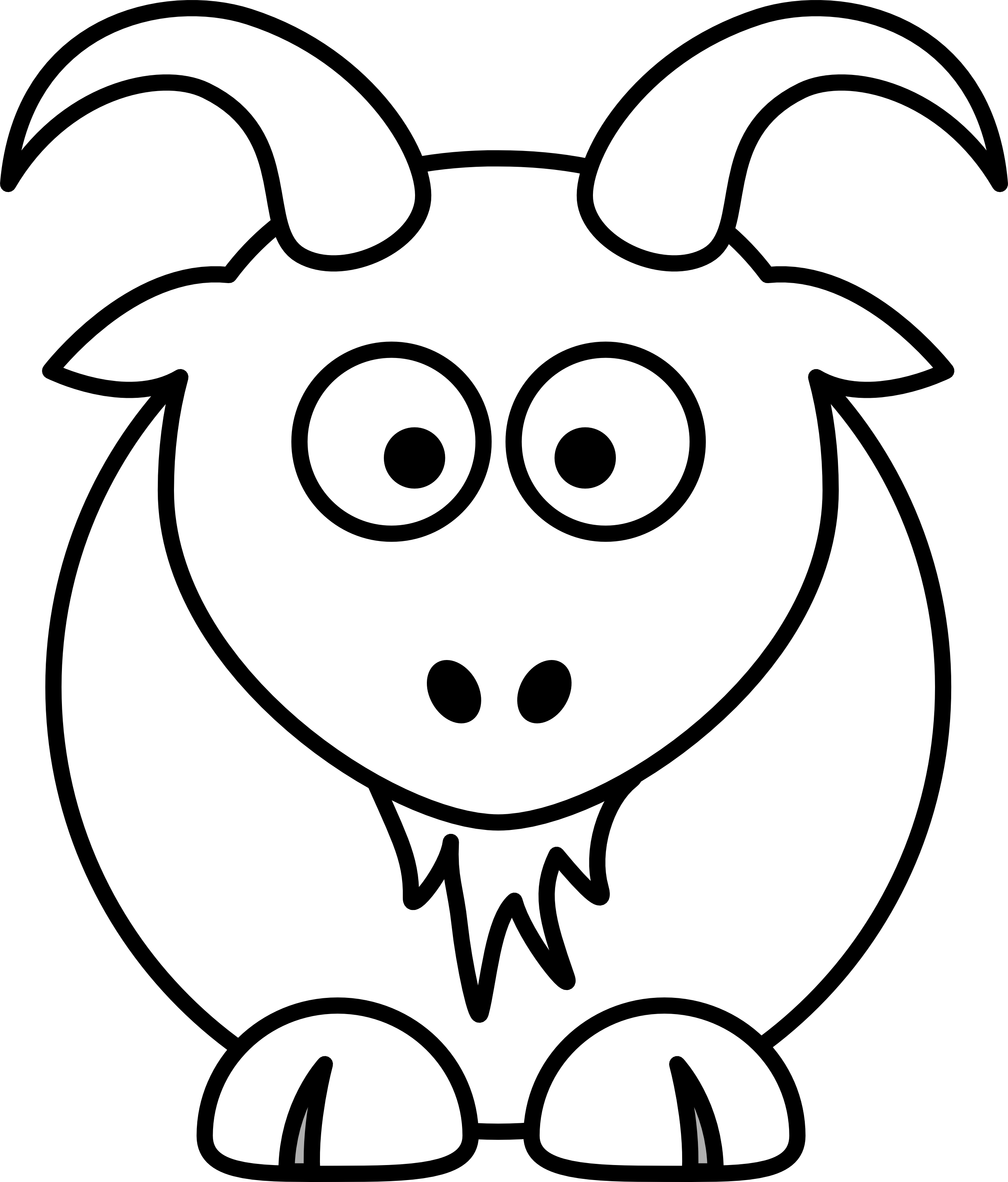 Goat Clipart Black And White Clipart Panda Free Clipart Images