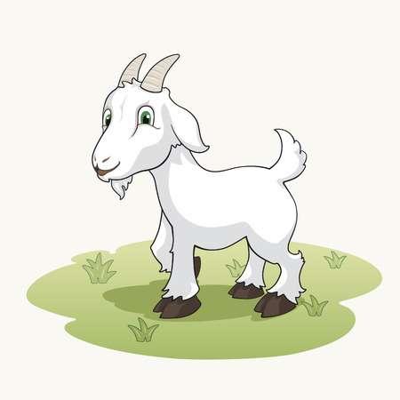 Cute cartoon goat
