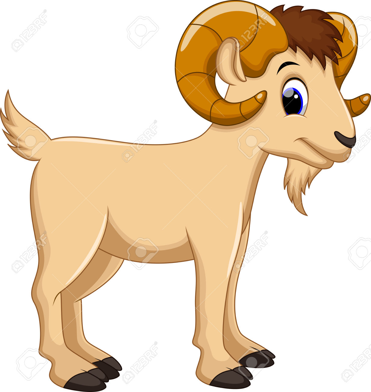Cute Cartoon Goat Clipart #1-Cute Cartoon Goat Clipart #1-3