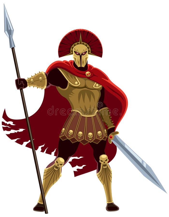Download Ares On White Stock Vector. Ill-Download Ares on White stock vector. Illustration of clipart, gold -  38918792-14
