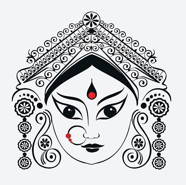 Durga, Saraswati, Lakshmi. vector art il-Durga, Saraswati, Lakshmi. vector art illustration-20