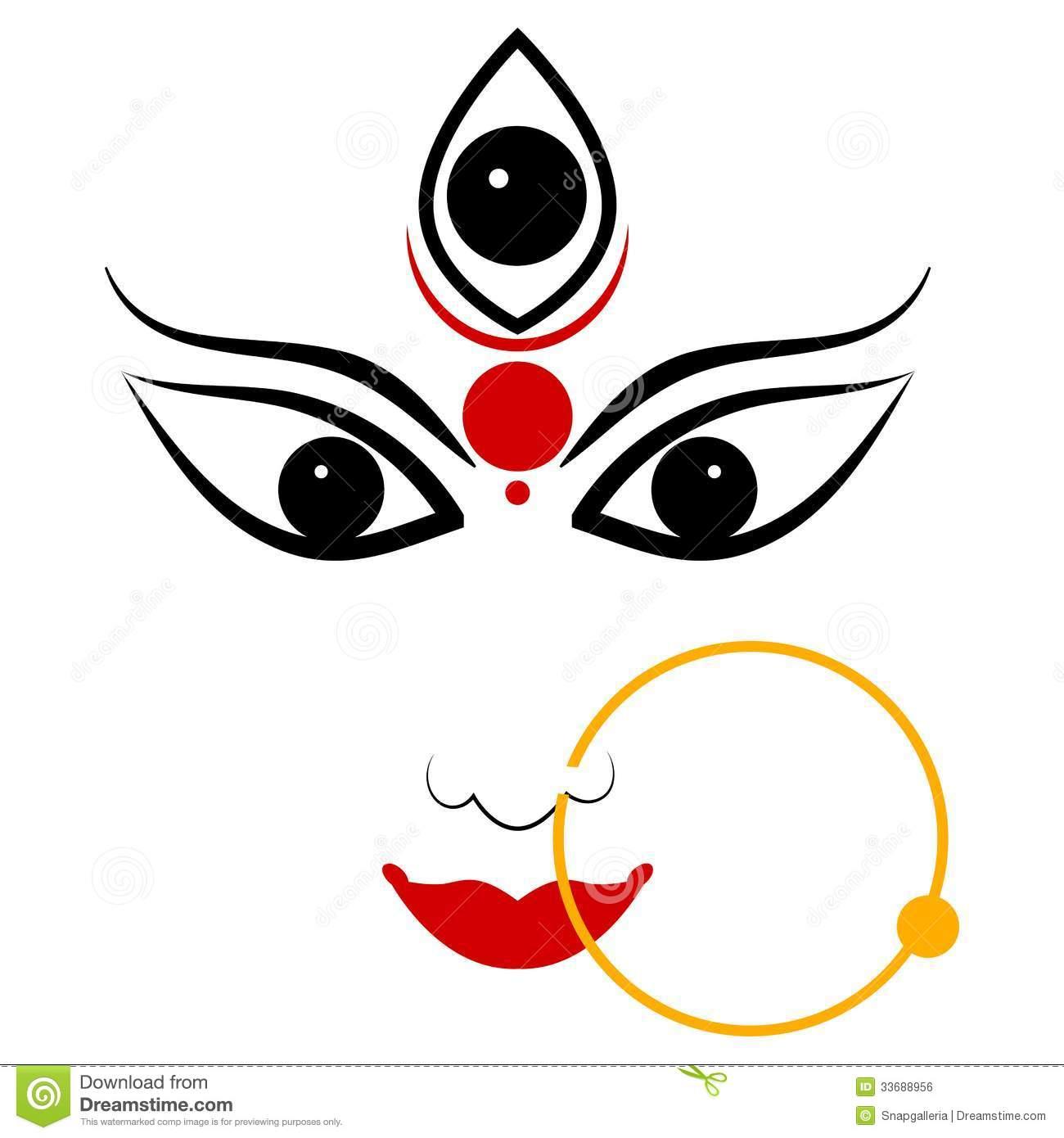 Goddess Durga. Easy to edit vector illus-Goddess Durga. Easy to edit vector illustration of Goddess Durga Royalty  Free Stock Image-9