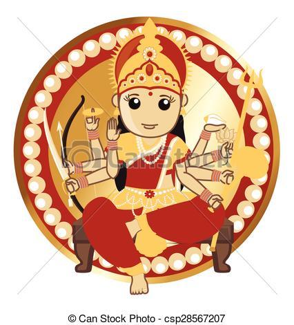 Indian Goddess - Maa Durga - csp28567207-Indian Goddess - Maa Durga - csp28567207-0