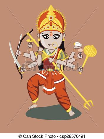 Maa Durga - Indian Goddess - csp28570491