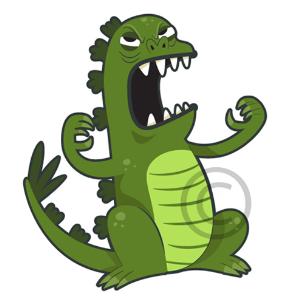 Godzilla Cartoon Clip Art