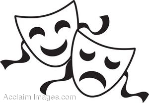 Going Over The Edge With Film - Theatre Masks Clip Art
