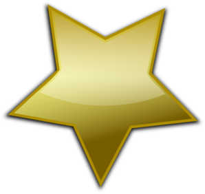 Gold Star Clipart-gold star clipart-7