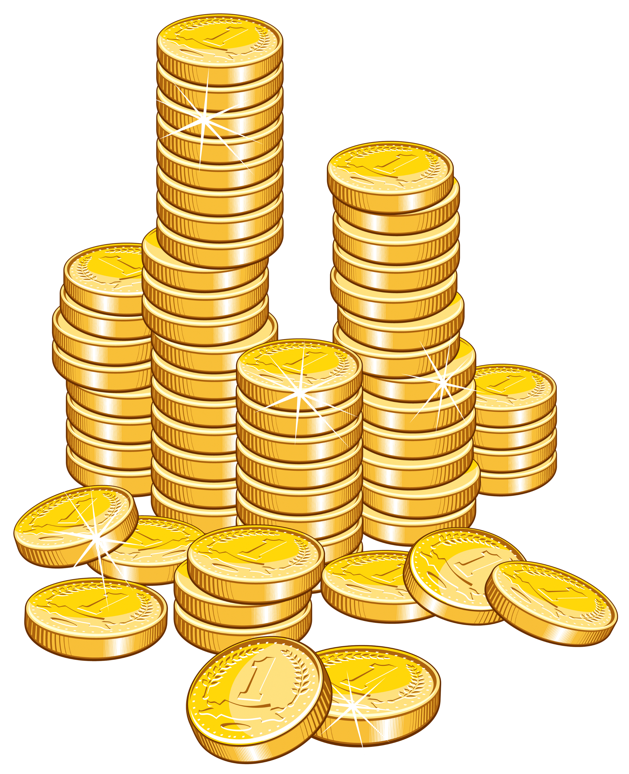 Gold Coin Stack of Money Clipart