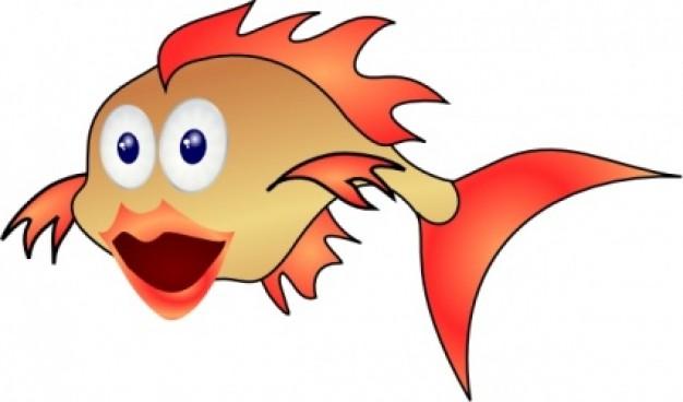 Gold Fish clip art Vector   Free Download