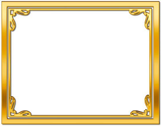 gold frame border free clipart .