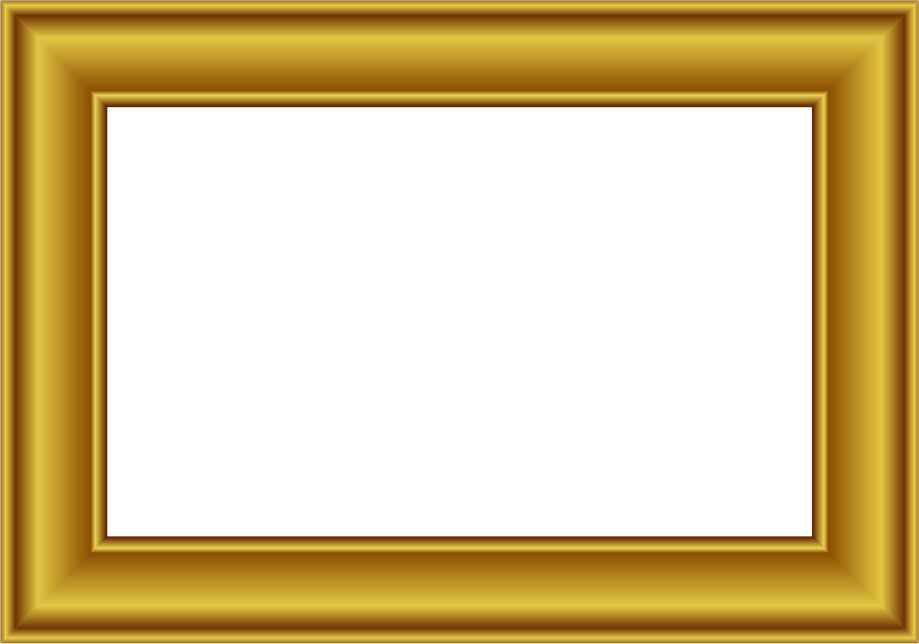 Gold Frame Rectangle 2 Page F - Gold Frame Clipart
