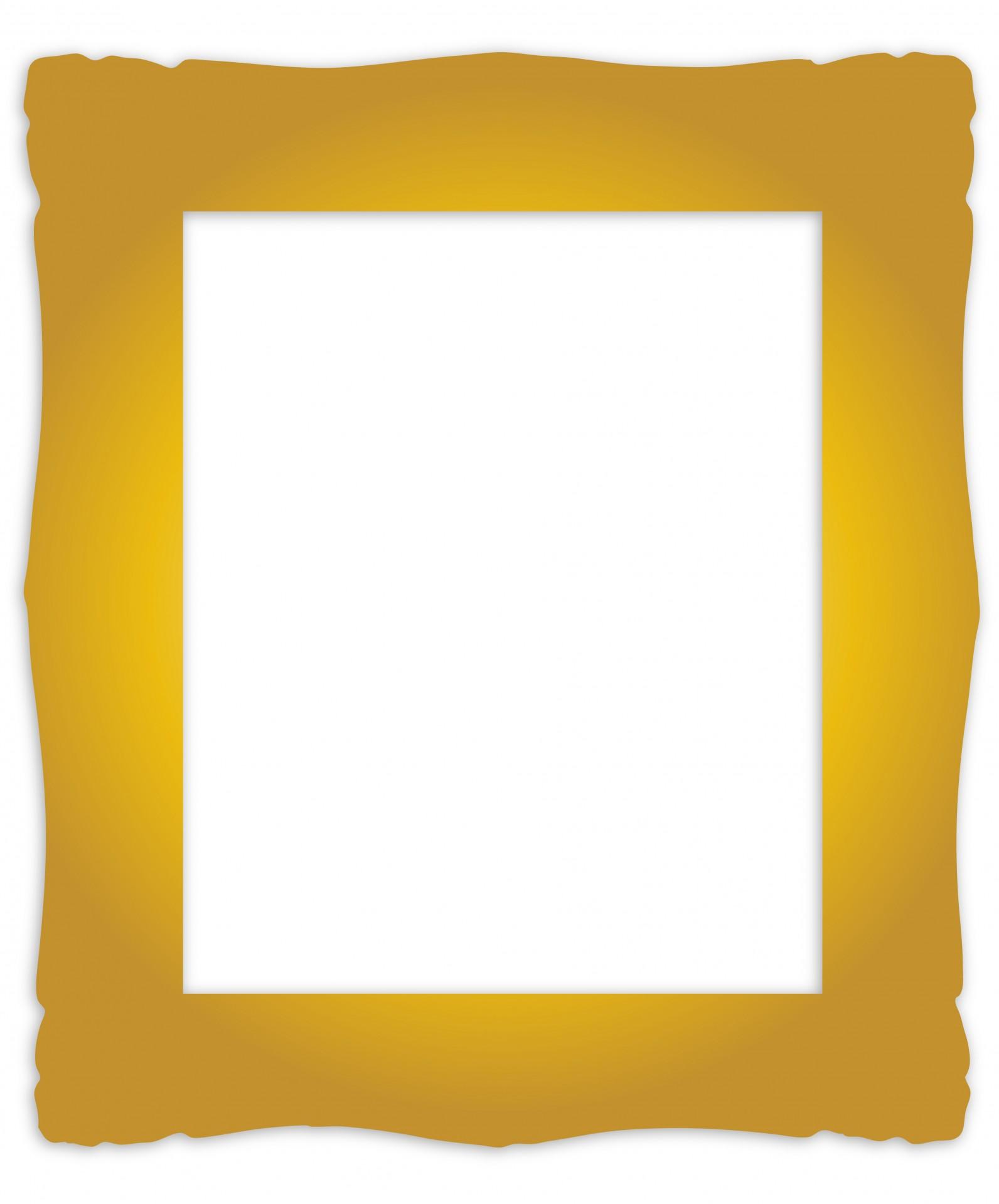 Gold Frame Vintage Clipart - Gold Frame Clipart