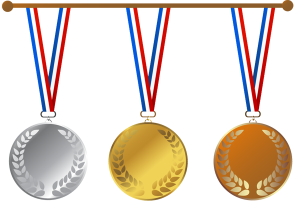 Gold Medal Clip Art - .