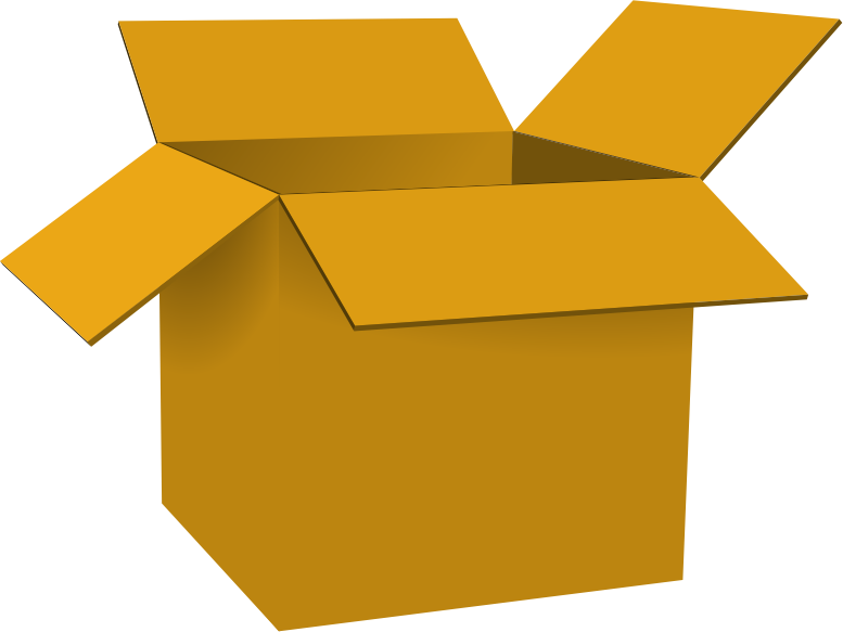 Gold Open Box Clipart